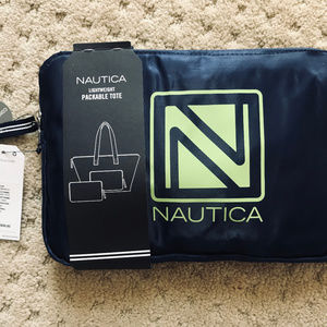 NEW Nautica Lightweight Packable Tote Blue